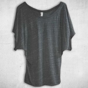NWOT Flowy Draped Sleeve Dolman Shirt